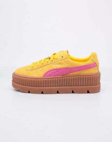 Sneakers - tenisky Puma Fenty Cleated Creeper Suede Lemon - Carmine - Vanilla Ice