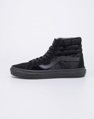 Sneakers - tenisky Vans SK8-Hi Reissue (Velvet) Black/Black