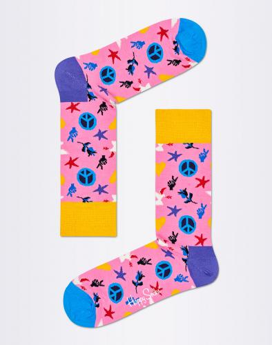 Ponožky Happy Socks Peace And Love PAL01-3000