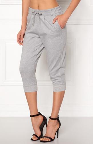 Kalhoty capri Poptrash / šedý melír