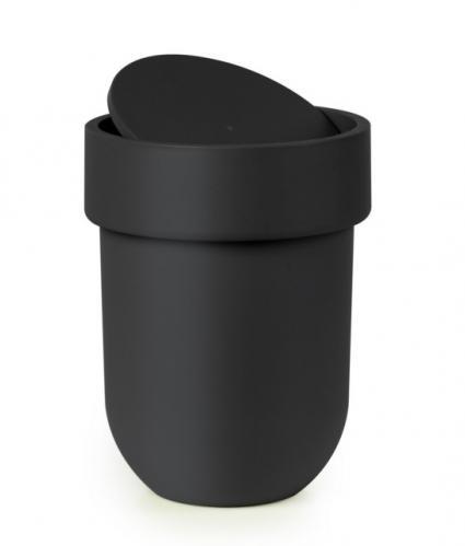 Koš na odpadky s víkem Umbra TOUCH - černý
