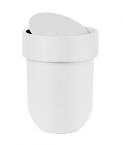 Koš na odpadky s víkem Umbra TOUCH - bílý