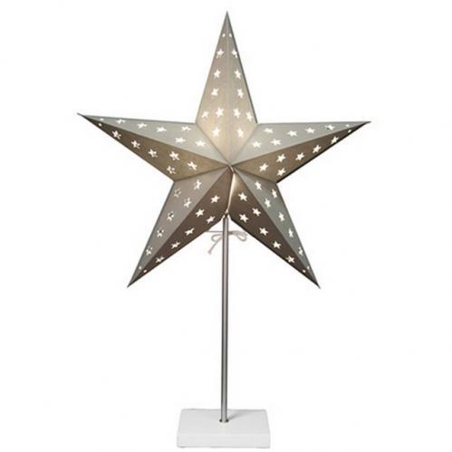Dekorativní stolní lampa STAR TRADING Star - šedá