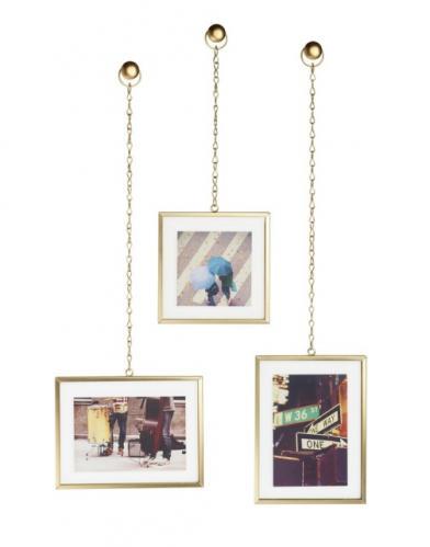 Fotorámečky na zeď Umbra FOTOCHAIN, 3 ks - zlaté