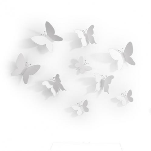 Dekorace na zeď Umbra Mariposa - bílá