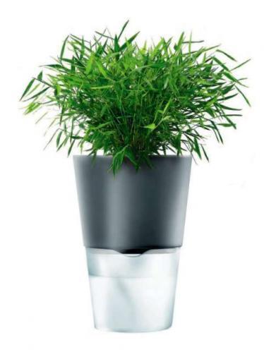 Eva Solo Samozavlažovací květináč 11 cm, tmavě šedý