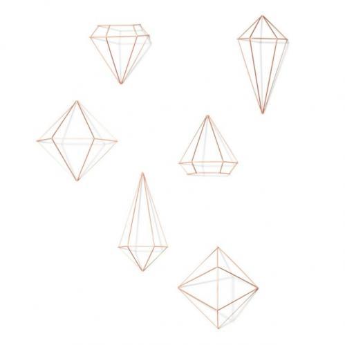 Dekorace Umbra PRISMA - měděná