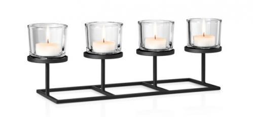 Svícen na 4 svíčky Blomus NERO