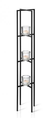 Stojací svícen na 3 svíčky Blomus NERO