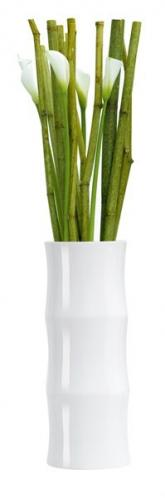 Váza BAMBOO ASA Selection bílá, 30 cm