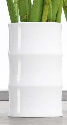 Váza BAMBOO ASA Selection bílá, 36 cm, průměr 21 cm