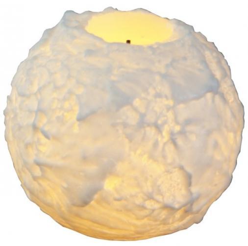 Dekorační svícen s LED osvětlením STAR TRADING Snowta, malá