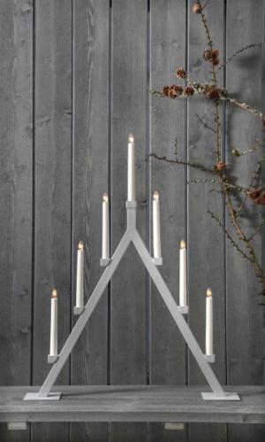 Dekorativní svícen na žárovky STAR TRADING Oliver - šedý