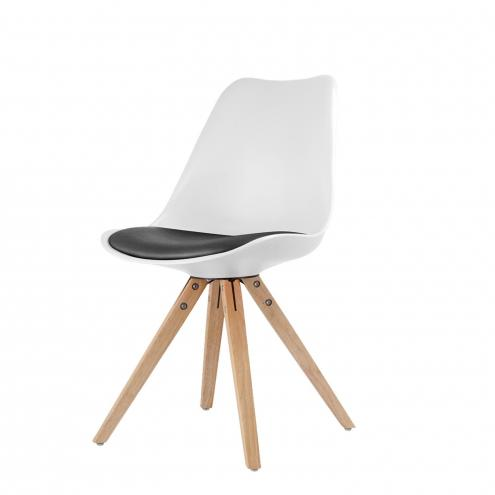 Jídelní židle LADY bílá/černá