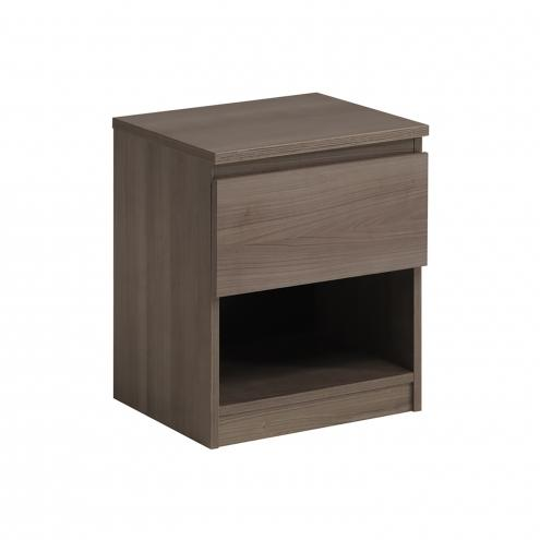Noční stolek NUOVO stříbrný ořech