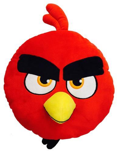 CTI 3D plyšový polštářek Angry birds RED 36 cm