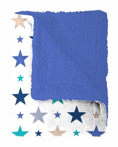 Mistral home Pléd Mistral Home beránek Starry sky modrá hvězdičky 130x170 cm