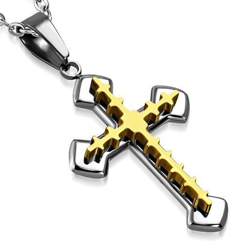 DAMSON Ocelový přívěsek - kříž