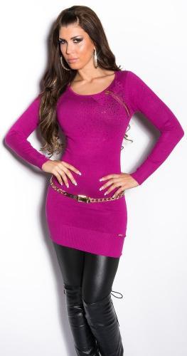 Koucla Prodloužený elegantní svetr