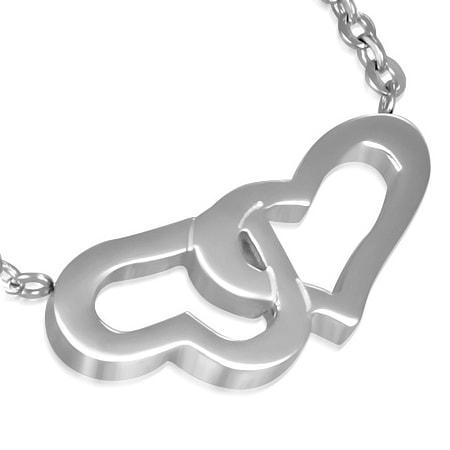 DAMSON Ocelový řetízek Srdce