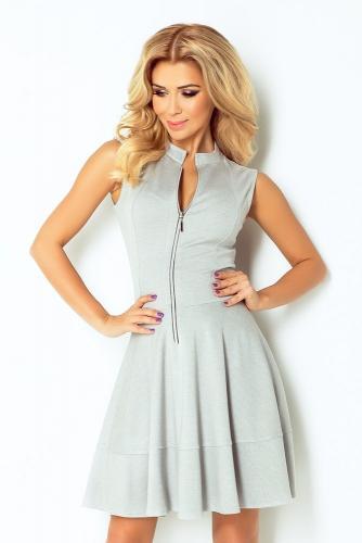 Numoco Dámské šaty šedé 123-6