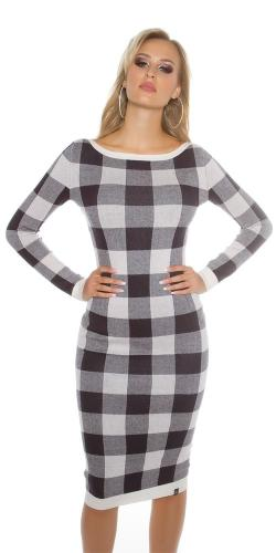 Koucla Moderní šaty úpletové šaty