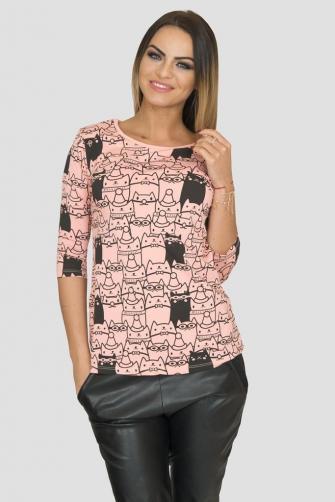Kesi Dámské tričko s potiskem koček
