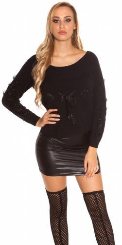 Koucla Černý dámský pulovr