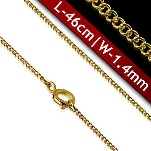 DAMSON Řetízek z oceli ve zlaté barvě 1,4mm/46cm