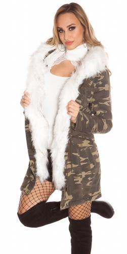 Koucla Zimní dámská bunda s kapucí