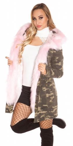 Koucla Zimní bunda s kapucí