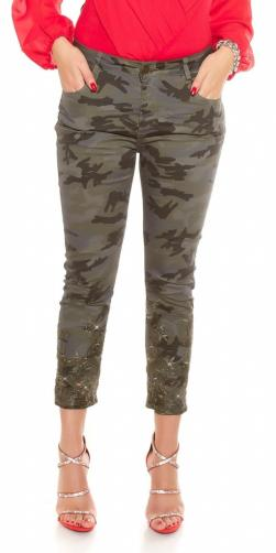Koucla Plus size džíny army