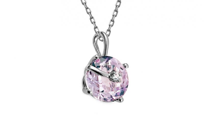 Ametystový přívěsek s diamantem 0,010 ct Abbey KU579P