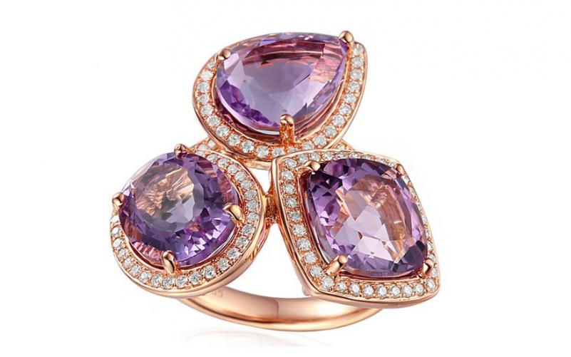 Ametystový prsten s brilianty Moriah IZBR203