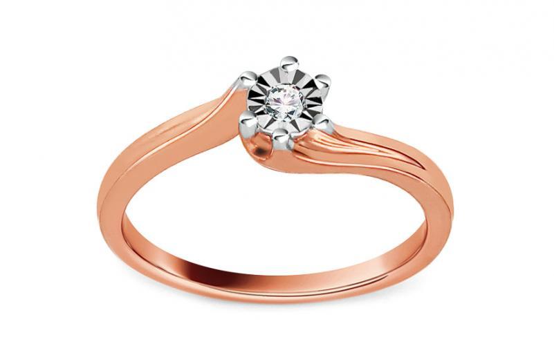 Briliantový zásnubní prsten Mariya 2 pink 0,040 ct KU0044R