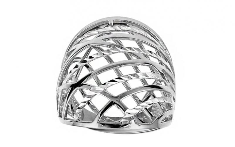 Celozlatý prsten s gravírováním IZ11394A
