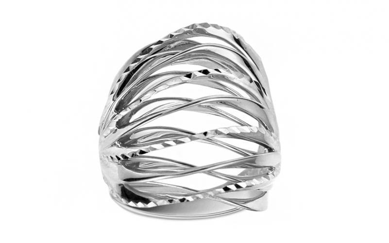 Celozlatý prsten s gravírováním IZ11396A