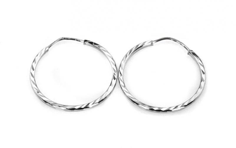 Dámské náušnice kruhy gravírované 2,5 cm IZ4192A