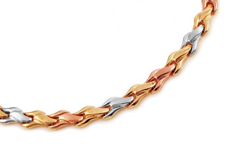 Dámský náhrdelník trojfarebný IZ11094