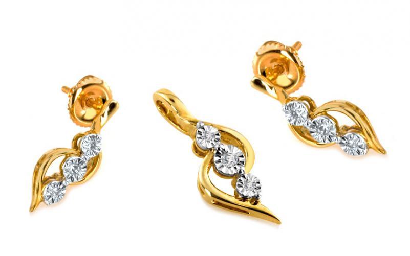 Diamantová souprava 0,060 ct Believe 1 KU139