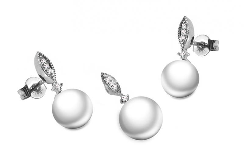 Diamantová souprava 0,100 ct Pearl Riches DB0037S
