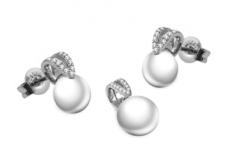 Diamantová souprava 0,130 ct Pearl Emotion DB0033S