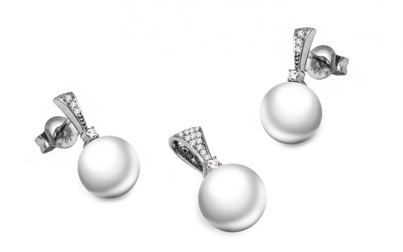Diamantová souprava 0,150 ct Diamond Pearl DB0039S