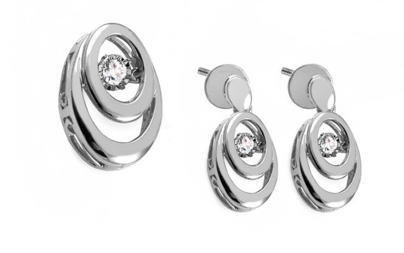 Diamantová souprava 0,160 ct Dancing Diamonds KU718AS