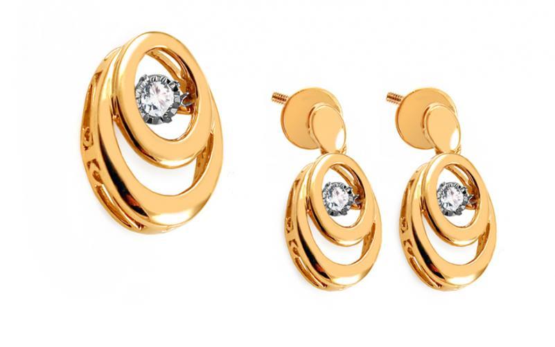 Diamantová souprava 0,160 ct Dancing Diamonds KU718S