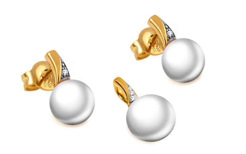 Diamantová souprava 0,160 ct Gold Pearl DB0045S