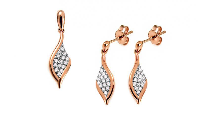 Diamantová souprava 0,170 ct Salina KU583S