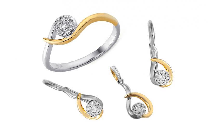 Diamantová souprava 0,18 ct IZBR106AS