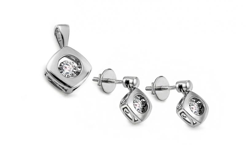 Diamantová souprava 0,200 ct Dancing Diamonds KU754AS