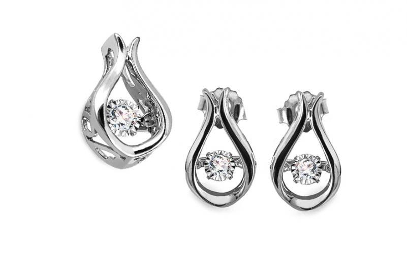 Diamantová souprava 0,210 ct Dancing Diamonds KU663S